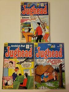 Jughead Comics #115, 127, 147/ Archie Comics (LOT of 3) Low Grade Silver Age