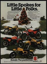1978 SUZUKI DS-80 DS-100 RM-50 RM-80 JR-50 Dirt Bike Motorcycles VINTAGE AD