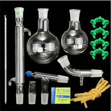 500ml 24/40 Glass Distillation Apparatus Laboratory Chemistry Glassware Kit