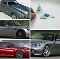 2Pcs Alfa Romeo Quatrefoil grün Delta Auto Seite Kotflügel Emblem Abzeichen 159