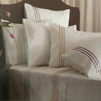 Private Collection Finesse Ribbons Celdon Sheet Set | Cotton Rich Sateen | Queen