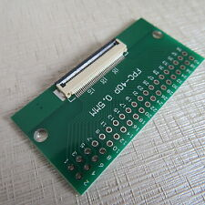 2x 40pin adaptador placa ffc-2.54 FPC pitch 0.5/1mm 0.5mm adpter PCB display cable