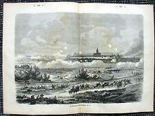 Bombardement von Straßburg Strasbourg STICH  1871 Deutsch-Französischer Krieg