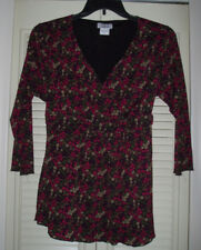 OH BABY MOTHERHOOD V-Neck Knit Layered Tie BackTop Blouse~Pink/Gray/Bue/Green~XL