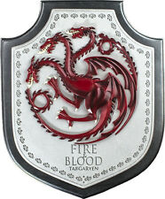 """GAME OF THRONES - 12"""" Targaryen House Crest Plaque (Noble Collection) #NEW"""