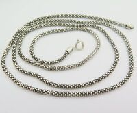 New Arrival Classic S925 Silver Necklace Man Woman's 3mm Fine Popcorn Link Chain