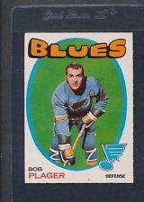 1971/72 OPC O-Pee-Chee #103 Bob Plager Blues EX *43
