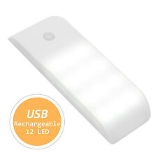 New LED USB Rechargeable PIR Motion Induction Sensor Closet Night lights Lamp UK
