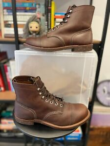 """Red Wing Heritage Iron Ranger 8111 AMBER HARNESS 6"""" Inch Boot Size 12 D Made USA"""