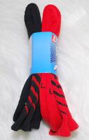 Boys Sports Socks Shoe Size 3-9 Gildan Smart Basics Game Sock 2 Pair Red Black