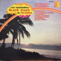 Rare Los inimitables Black Stars de Colombia Cumbia sonidera Guitar Synth lp