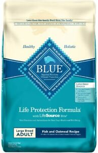 Blue Buffalo Life Protection Formula Large Breed Adult Fish Oatmeal Recipe 30lb