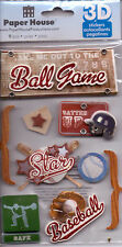 Paper House BASEBALL GAME~Dimensional Stickers~Gorgeous! High Quality!
