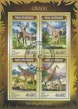 Timbres Animaux Girafes Mozambique 6071/4 o année 2014 lot 19280 - cote : 17 €