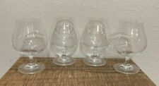 """Set Of 4 Crystal Brandy And Cognac Snifters. 5 1/2"""" Mint Condition FREE SHIPPING"""