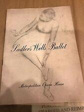 Program Met Opera House Sadler'S Wells Ballet Margot Fonteyn 1955