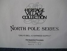 "Heritage Village ""Orly's Bell & Harness Supply"" #5621-9 North Pole Series"