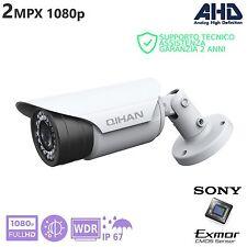 TELECAMERA BULLET AHD 2Mpx 1080p SONY EXMOR FullHD IP67 24 IR LED WDR QIHAN