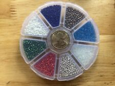11/0 Glass Seed Beads In Box 8 Awesome Winter Colors Art Craft Jewelry Lot Bulk