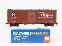 HO Scale Walthers Mainline 910-1663 ATSF Santa Fe 40' AAR 1944 Box Car #138926
