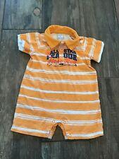 Boys 3-6 Months Children's Place Orange Striped Short Sleeve Short Romper