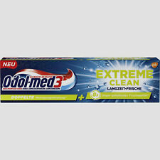 3x 75 ml Odol-med 3 Extreme Clean Langzeit-Frische Zahnpasta NEU + OVP
