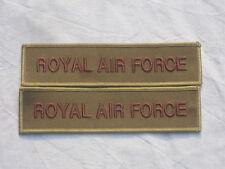 2x Inscription: Royal Air Force, kaki,Armée de l'Air,RAF