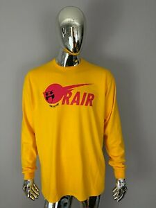 NWOT Pink Dolphin Yellow Graphic Long Sleeve Shirt  Size XL