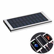 Solar Powerbank 10000mAh Externe Battery Ladegerät Akku USB LED Tragbare Handy