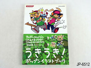 Pop'n Music Character Illustration Book AC 14-15 Bemani Artbook Japan US Seller