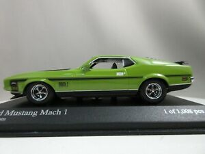 MINICHAMPS 143 Ford Mustang Mach1 1971 Green 400087121