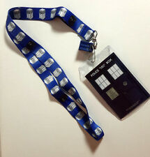 Doctor Who TARDIS Repeat Lanyard with 3D TARDIS Charm- Underground Toys