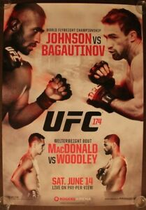 Official UFC 174 - Johnson vs. Bagautinov Poster 27x39 (Near Mint)
