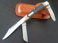 Schrade Old Timer 3BLD Senior 8OT+ FREE Pouch Folding Pocket Hunting Camp Knife