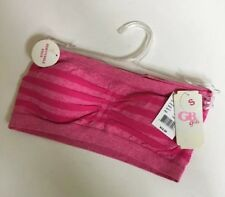 NWT GB Girl's Bra Strapless Pink Stripped Size Small Removable Pads