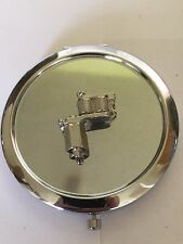 Tattoo Gun TG55 Fine English Pewter on Round Shape Compact Mirror