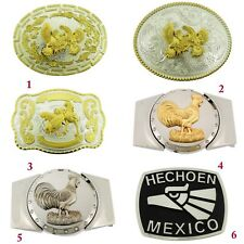 Cockfighting Belt Buckle Rodeo Western Cowboy Mexico Men Costume Mexican Fashion