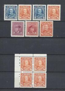 CANADA (1931-42 KG-V, KG-VI COB#183-184, Mi#133A,219-22) MNH SuperB C.V. € 72.20