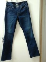 Womens Eddie Bauer Blue Straight Kick Flare Jeans UK size 10 W30 L32