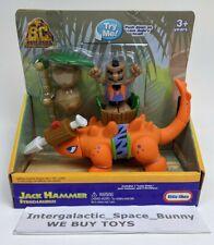 Little Tikes B.C. Builders Jack Hammer Cave Dude Stegosaurus Dinosaur Boxed