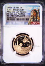 2019 S Proof Native American Mary Ross NGC PF69 ER Dollar from mint 10-coin set