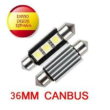 2X BOMBILLAS LED C5W 36MM FESTOON CANBUS 3 LED 5050 BLANCO XENON COCHE MATRICULA