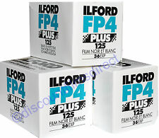 3 x ILFORD FP4 125 35mm 36exp CHEAP B&W CAMERA FILM by 1st CLASS POST
