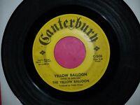 THE YELLOW BALLOON / Yellow Balloon / Canterbury C-508 45rpm Vinyl Record