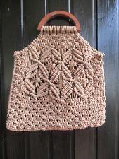 a4b82354828ce Tasche Makramee Netztasche Handarbeit aus reiner Baumwolle - 35 cm lang
