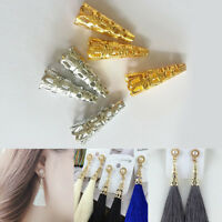 50pc Filigree Steel Gold Cone Bead Cap Spacer Making Earring Jewelry DIY Finding