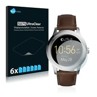 Fossil Q Founder 2.0 Smart Watch,  6x Transparent ULTRA Clear Screen Protector