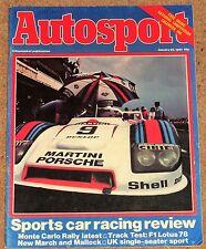 Autosport 29/1/81* SPORTSCARS, SINGLE SEATERS & IMSA REVIEWS - LOTUS 78 TEST