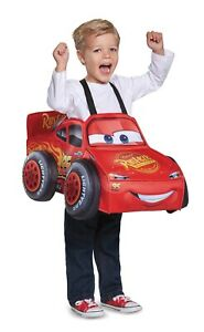 Lightning Mcqueen 3D Cars 3 Child Costume One Size Fits Up to A Size 6 NEW
