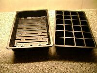 2 TO 50 FULL SIZE SEED TRAYS  WITH NO HOLES AND 24  CELL  INSERTS